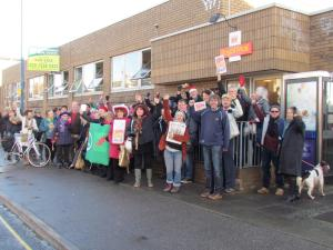 National Postal Workers Day: about 50 people turned up to show their support