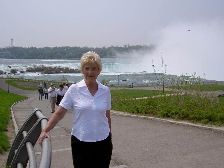 Mum at Niagara Falls