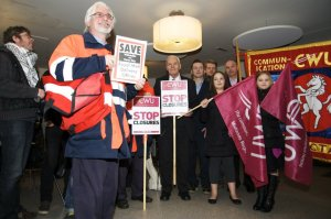 Tony Benn and the Whitstable Postal Workers at the Gulbenkian Theatre, January 2011