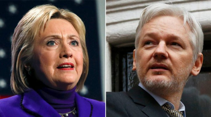 """Julian Assange: """"1,700 emails"""" proves Hillary Clinton sold weapons to ISIS in Syria"""