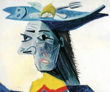detailofwomaninafishhat1942bypicasso